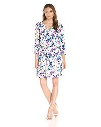 NYDJ - Blue Alexa Shirtdress With Detachable Fit Solution - Lyst