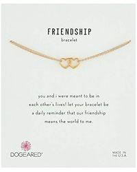 """Dogeared - Metallic Friendship, Linked Open Heart Chain Bracelet, 6""""+1"""" Extender - Lyst"""