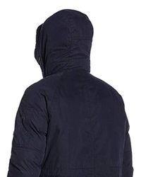 G-Star RAW - Blue Expedic Hooded Cotton Parka for Men - Lyst