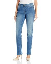NYDJ - Blue Marilyn Straight Leg Jeans - Lyst