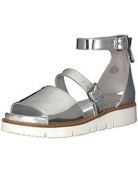 Nine West Metallic Satoria Synthetic Flat Sandal