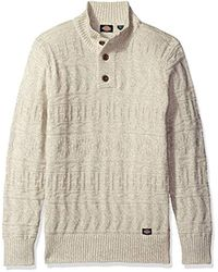 Dickies - Multicolor Solid Allover Texture Mock-neck Sweater for Men - Lyst