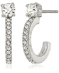 Vince Camuto - Multicolor Dainty Light Rhodium Studded Earrings - Lyst