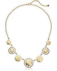 Judith Jack - Metallic Sterling Silver/swarovski Marcasite Gold-tone Frontal Necklace - Lyst