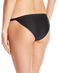 RVCA Black Solid Medium Bikini Bottoms