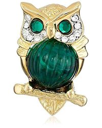 Kenneth Jay Lane - Multicolor Small Owl Brooch - Lyst
