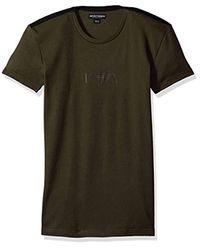 Emporio Armani Green Stretch Cotton Boot Camp Rib T-shirt for men
