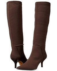 Donald J Pliner - Brown Lena Pointed Toe Tall Stretch Boot - Lyst