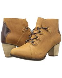 Caterpillar - Brown Arbor Wp Lace Up Ankle Bootie With Stacked Heel Boot - Lyst