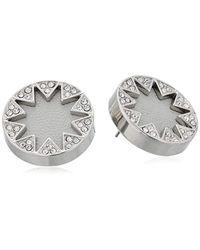 House of Harlow 1960 - Metallic Pave Sunburst Silver/grey Stud Earrings - Lyst