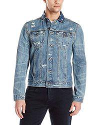 Calvin Klein - Blue Jeans Ripped Denim Jacket for Men - Lyst