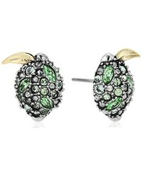 Alexis Bittar - Metallic Lime Poat Earrings, Antique Rhodium With 10k Gold Accents, One Size - Lyst