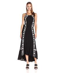 Ella Moss Black Usiku Midi Dress