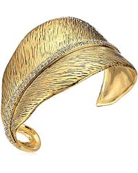 House of Harlow 1960 - Metallic Gold Cedro Cuff Bracelet - Lyst