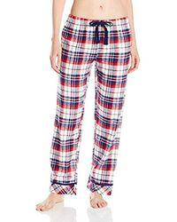 Jockey Red Flannel Plaid Long Pant