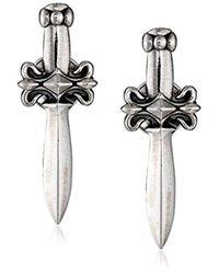 King Baby Studio - Metallic Dagger Post Earrings - Lyst