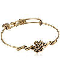 "ALEX AND ANI - Metallic Spiritual Armor Endless Knot Expandable Wire Bangle Bracelet, 7.75"" - Lyst"