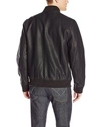 Calvin Klein - Black Jeans Faux Leather Aviator Jacket for Men - Lyst