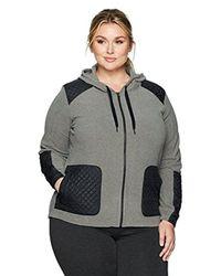 db8825dba Lyst - Columbia Plus Size Warm Up Hooded Fleece Full Zip Jacket in Gray