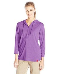 Dickies - Purple Henley Pullover Hoodie - Lyst