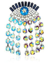 Betsey Johnson - Multicolor Mystic Baroque Queens Multi-color And Multi-stone Evil Eye Pin - Lyst