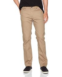 Volcom - Natural Solver 5 Pocket Heavyweight Slub Pant for Men - Lyst