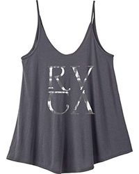 RVCA - Gray Junior's Tie Dye Strappy Tank - Lyst