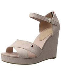 2aa0ad3307cf Tommy Hilfiger E1285lena 45d Wedge Heels Sandals in Pink - Lyst