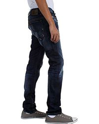 DIESEL Blue Thavar Straight Slim-leg Jean 0831q for men