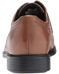 Rockport - Brown Charles Road Cap Toe Oxford for Men - Lyst