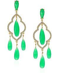 Kate Spade - Chandelier Green Drop Earrings - Lyst