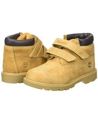 Timberland - Yellow Unisex Babies' Double Strap H&l Chukkawheat Nubuck Walking Shoes, Wheat - Lyst