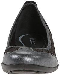Ecco - Black Bluma Slip On Ballerina Flat - Lyst