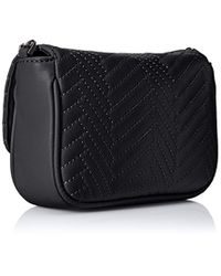 23125dae0ffe Lyst - Armani Exchange Quilted Pu Crossbody in Black
