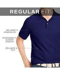 Izod - Blue Short Sleeve Performer's Pieced Interlock And Mesh Golf Polo for Men - Lyst