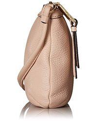 Calvin Klein - Natural Small Key Item Pebble Leather Crossbody - Lyst