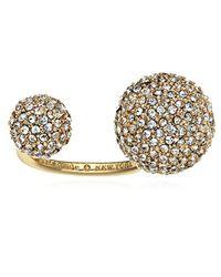 Kate Spade - Metallic Gold-tone Ring, Size 7 - Lyst