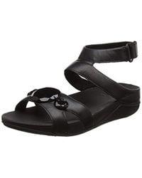 f70d6301c039 Fitflop Luna Pop Gladiator Sandals Open-toe in Black - Lyst