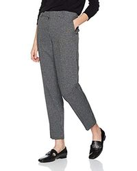 1fd816c458 Dorothy Perkins Check Ankle Grazer Trousers in Gray - Lyst