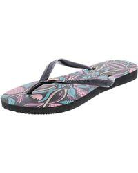 2cd0a34e4 Lyst - Havaianas Slim Royal Sandal Flip Flop in Gray