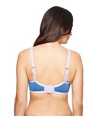 Natori - Blue Power Yogi Convertible Sports Bra - Lyst