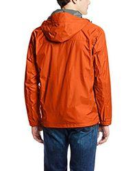 Columbia Orange Watertight Ii Front-zip Hooded Rain Jacket for men