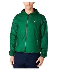 Lacoste - Green Tennis Taffetas Hoodie Jacket With Mesh Linen for Men - Lyst