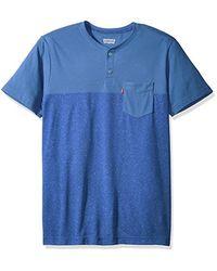 Levi's - Blue Jenner 2 Speckled Snow Yarn Jersey Short Sleeve Shirt for Men - Lyst