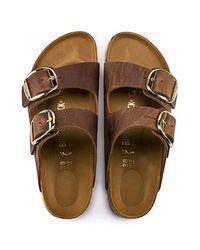 Birkenstock - Brown Arizona Unisex Leather Sandal - Lyst