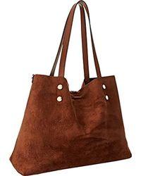 Calvin Klein - Brown Reversible E/w Logo Tote Bag - Lyst