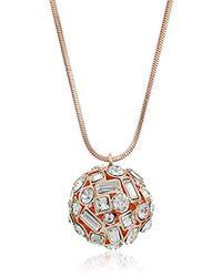 T Tahari - Metallic Rose Crystal Ball Pendant - Lyst