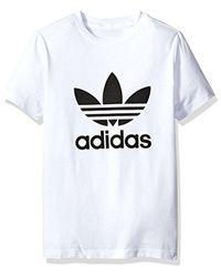Adidas Originals - Tops Big Boys' Trefoil Tee, White, X-small for Men - Lyst