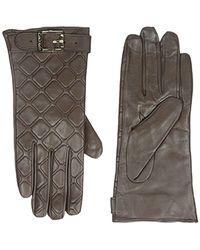CALVIN KLEIN 205W39NYC - Brown Quilted Buckle Gloves - Lyst