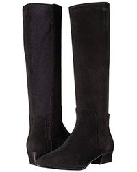 Aquatalia - Black Aquatalia Federica Suede Equestrian Boot - Lyst